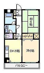 綾瀬リージェントマンション[1階]の間取り