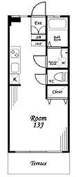 日の出マンション(室内リノベ済)[1階]の間取り