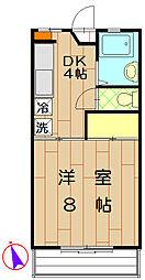 ドミールヤマミヤ[A102号室]の間取り