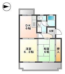リブェールSANAGE[3階]の間取り