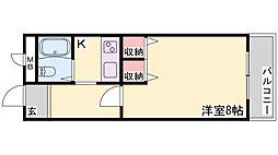 兵庫県高砂市荒井町扇町の賃貸アパートの間取り