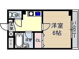 末広13番館[4階]の間取り