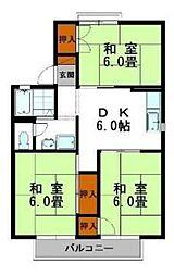 セジュール青山[2階]の間取り
