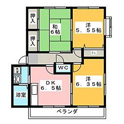 グランデージリフレ[2階]の間取り