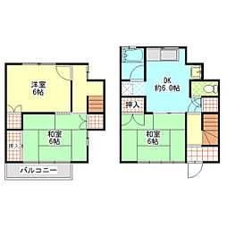 [テラスハウス] 神奈川県小田原市田島 の賃貸【/】の間取り