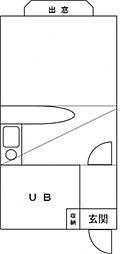 リエス新八柱[2階]の間取り
