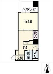 K−POINT BLDG[6階]の間取り