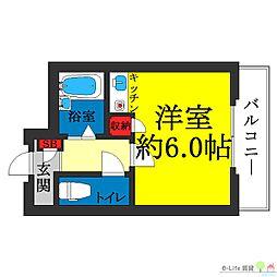 大阪府大阪市住吉区山之内3の賃貸マンションの間取り
