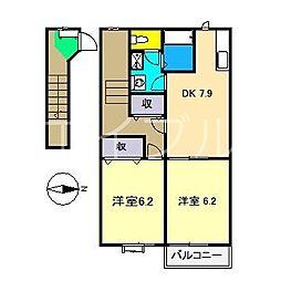 グリーンハイツ(仁井田)[2階]の間取り