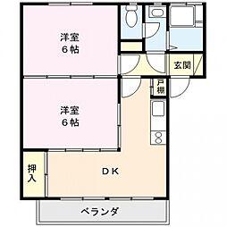 永田マンション[204号室号室]の間取り