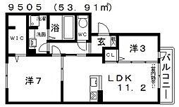仮)D-room天美我堂2丁目[303号室号室]の間取り