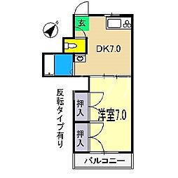 小坂ハイツ[1階]の間取り