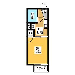 フレグランス76[2階]の間取り