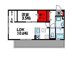 D-room Reiwa 1階1LDKの間取り