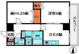 HERITAGE高井田[4階]の間取り
