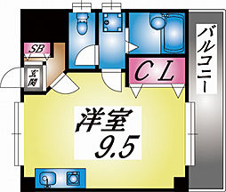 兵庫県神戸市灘区船寺通4丁目の賃貸マンションの間取り