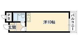 ミストラル川園[210号室]の間取り
