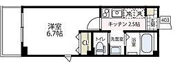 ラフィネ横浜[403号室号室]の間取り