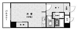 Osaka Metro谷町線 中崎町駅 徒歩1分の賃貸マンション 3階ワンルームの間取り