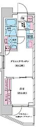 東京メトロ東西線 門前仲町駅 徒歩8分の賃貸マンション 10階1DKの間取り