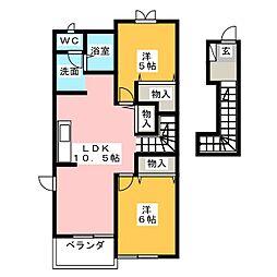 ビューシエル[2階]の間取り