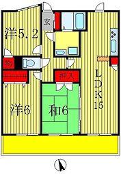 アンビシャス新八柱[4階]の間取り