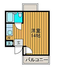 神奈川県相模原市南区上鶴間5丁目の賃貸マンションの間取り