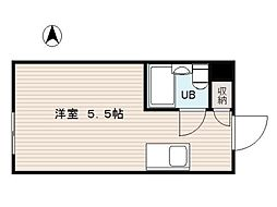 堀江グリーンハイツ[8階]の間取り