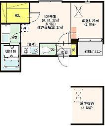 仮称:ハーモニ−テラス・東大阪市荒川三丁目A[102号室]の間取り