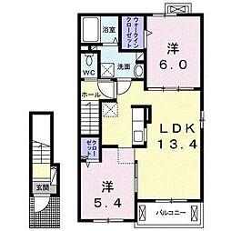 三佐横丁I[2階]の間取り