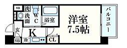阪急神戸本線 王子公園駅 徒歩3分の賃貸マンション 6階1Kの間取り