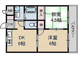 リバティ茨木[3階]の間取り