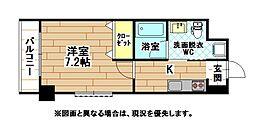福岡県北九州市小倉北区下到津2丁目の賃貸マンションの間取り