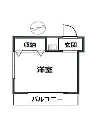 岩永ビル[4階]の間取り