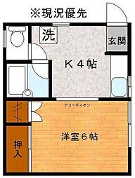 コーポニシカワ[2階]の間取り
