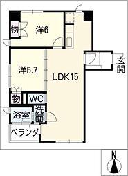 さくらタワー長良[5階]の間取り