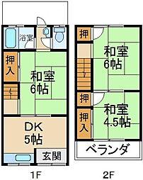 [テラスハウス] 大阪府寝屋川市打上元町 の賃貸【/】の間取り