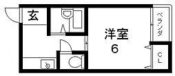 シャトレ小阪[205号室号室]の間取り
