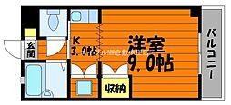 岡山県倉敷市松島丁目なしの賃貸マンションの間取り