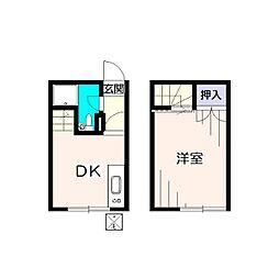 [テラスハウス] 東京都小平市鈴木町1丁目 の賃貸【/】の間取り