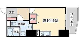 Osaka Metro谷町線 東梅田駅 徒歩9分の賃貸マンション 13階ワンルームの間取り