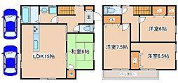 [一戸建] 兵庫県神戸市西区白水2丁目 の賃貸【兵庫県 / 神戸市西区】の間取り