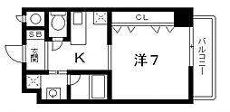 フォーゼ安堂寺[10階]の間取り