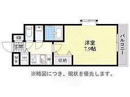 JR東海道・山陽本線 兵庫駅 徒歩14分の賃貸マンション 6階1Kの間取り