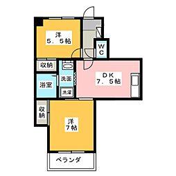 白金ハイツITOH[3階]の間取り