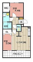 桜橋山荘[3階]の間取り