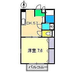 フォブールDINO[2階]の間取り