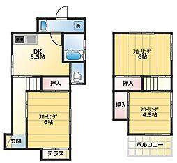 [一戸建] 神奈川県横浜市港南区芹が谷3丁目 の賃貸【/】の間取り