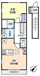 JM HIROMI[2階]の間取り