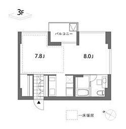 東京都港区白金6丁目の賃貸マンションの間取り